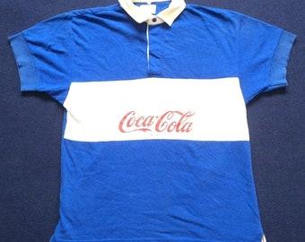 Vintage 90s 1995 Coca Cola Coke Casual Collar Polo Mens Shirt Xlae8SsOHz