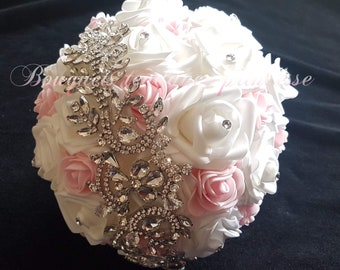 Bridal jewelry bouquet