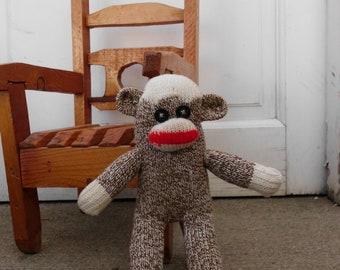 Handmade Mini Sock Monkey