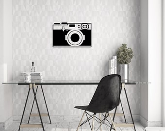 Vintage Camera (Style 2) Wall Decal | Vinyl Wall Decal | Wall Decal |