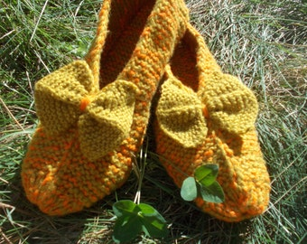 Women's slippers Socks Hand-knitted Slippers for the house