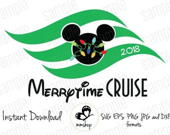 Disney Cruise - Christmas Flag - Mickey Lights - Instant Download - SVG FILES