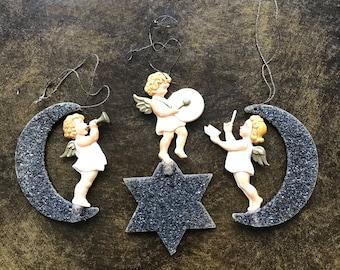 Vintage angel Christmas tree ornaments
