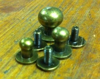 Button Studs Asst. Ant Brass (10)