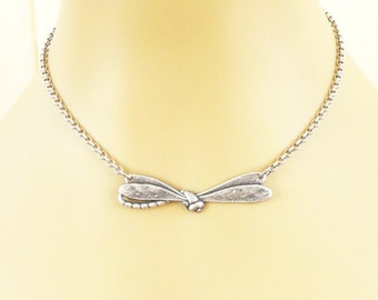 Steampunk Dragonfly Necklace Sterling Silver Ox Finish
