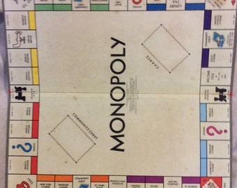Vintage Monopoly Game Board