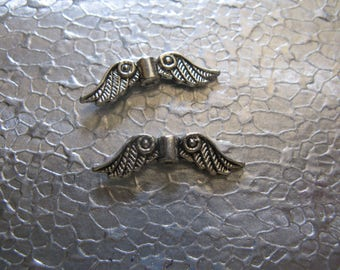 23mm Angel Wings 12 wings per lot Silver Plated Jewelry Finding Craft Beads