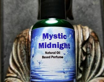 Natural Perfume Oil - Jasmine , Amber , and Vanilla - 2 ounces - Mystic Midnight