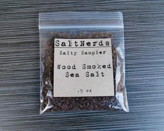Wood Smoked Sea Salt • SaltNerds Salty Sampler • .5 oz • Foodie Gift • Free Shipping!!