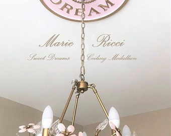 Gold and Pink Decor, Home and Living, Girls Room Decor, Sweet Dreams, Pink and Gold Decor, Farmhouse Decor, Marie Ricci, Ceiling Medallions