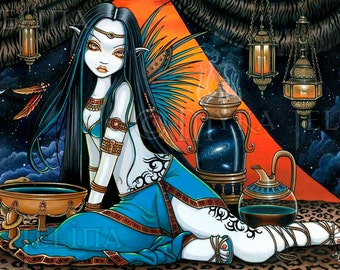 Santha Tribal Sage Mystical Fairy Signed 13 X 19 inch Print