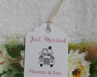 Personalized Favor Tags 2 1/2'', Wedding tags, Thank You tags, Favor tags, Gift tags, Bridal Shower Favor Tags, Wedding cartoon