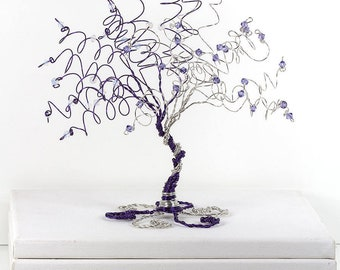 When Two Become One Wedding Cake Topper Tree Custom Wire Tree Sculpture