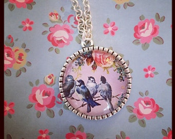 Four little birds Necklace