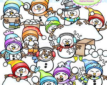 snowball clipart etsy rh etsy com  snowball fight clipart black and white