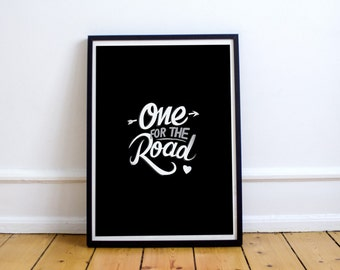 Arctic Monkeys poster - one for the road poster - Gift for him - Gift for her - Best selling rock poster - Gig poster - Arctic Monkeys art