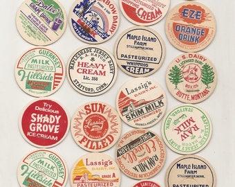 35 Old MILK Caps - DAIRY , JUICE, Etc.