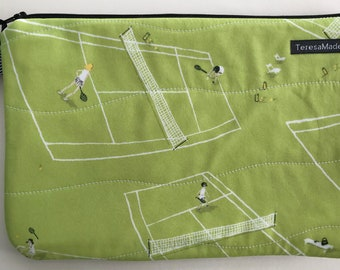 Large Tennis Zip Pouch