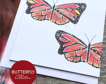 Monarch Butterfly Art Card - Butterfly Collection (Greeting Card)