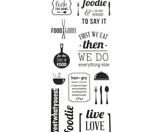 Food Is Life Photo Safe Clear Foil Stickers, 14-Count