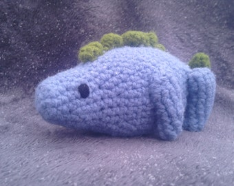 Blue and Green Crochet Stegosaurus