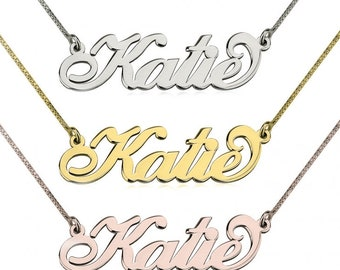 Name Necklace Gold Name Necklace Sterling Silver Name Necklace Rose Gold Personalized Necklace Personalized Gift Necklace with Custom Name