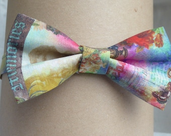 colored pattern Bow Tie