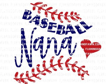 Baseball nana svg, baseball grandma svg, baseball grandma dxf, baseball svg, baseball dxf, svg baseball grandma, svg baseball, heart