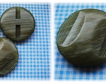 Large Green 1960's Buttons