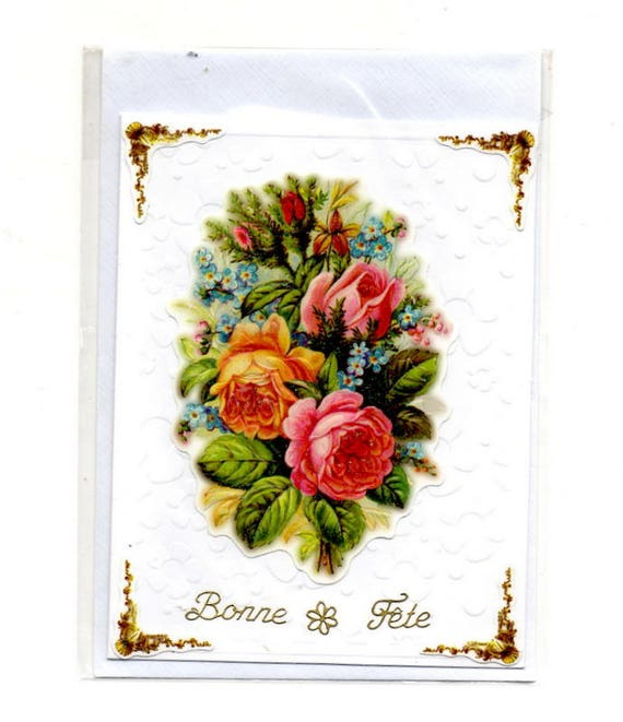 360 Greeting card happy birthday bouquet of flowers