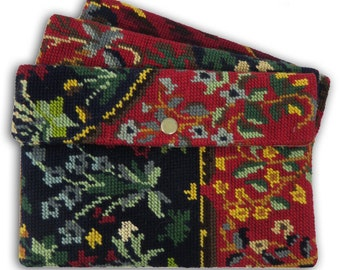 Tapestry Cover for Tablet with needlepoint, Protective Sleeve: Le Vence