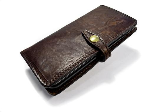 iPhone Leather Case Flip Wallet Bifold Style for iPhone 6S or 6S PLUS iPhone 5S iPhone 5 CHOOSE Device and Color