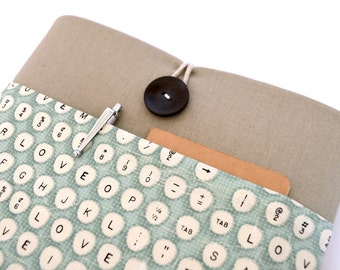 iPad Case, iPad Pro Cover 9.7, 10.5, 12.9 inch iPad Cover Case, iPad Air Sleeve, Custom Tablet Cover with Pocket - Typewriter