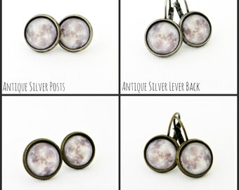 Full Moon Earrings - Choose Your Style and Tray Color