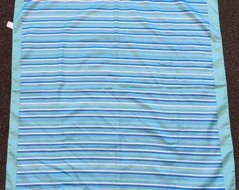 Vintage 1980s Blue Striped Italian Careta Head Scarf