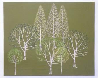 Summer Trees canvas