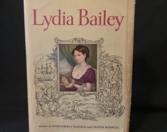SALE Vintage 1947 Lydia Bailey Kenneth Roberts Historical Romance Adventure Novel