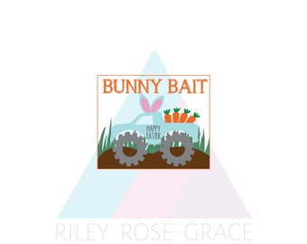 easter bunny bait printable bag tag // easter treats tag // easter party favour tag // bunny bait tag //  easter tag // instant download