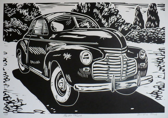 Prints By Deluxe: Items Similar To Master Deluxe--Linoleum Block Print