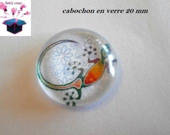 1 cabochon clear 20mm salamander theme