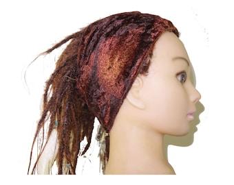 Bohemian rusty velvet adult headband bohemian