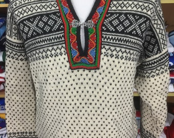 Vintage Pullover Sweater Sweatshirt Dale of Norway (XL Mens) Pure New Wool