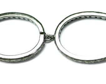 Silver Oval Earrings