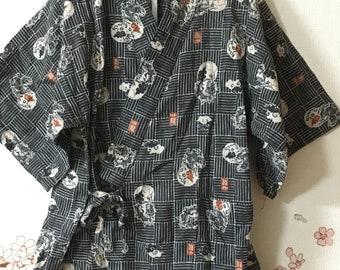 Toddler Kimono, Gray Dragon Design, Baby Kimono, Child Kimono, Baby Gifts, Baby Jinbei, Photo Prop Idea, Ninja Outfit, Kawaii