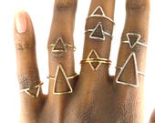 Large Triangle Ring, Gold Arrow Ring, SAMPLE SALE