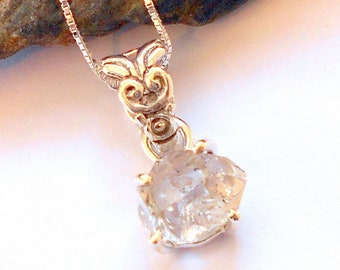 Herkimer Diamond Sterling Silver Necklace earthegy #2178