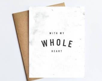 Whole Heart - NOTECARD - FREE SHIPPING!