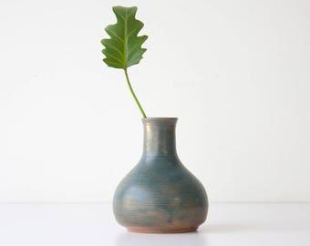 Vintage Mid Century Modern Studio Pottery Vase - Weed Pot