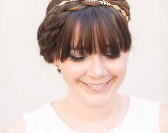 Tiny Fern Vine Crown -  Bridal or Special Occasion Boho Headband, crown, halo, hair piece, leaf crown, wedding, bridal, boho hair accessory