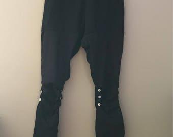 Button & Black Leggings